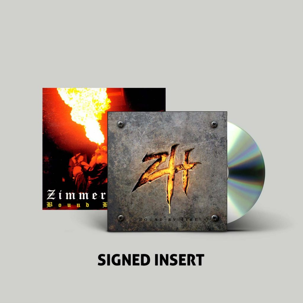 "<b>Zimmers Hole</b> ""Bound By Fire"" Autographed CD Digi-Pak"