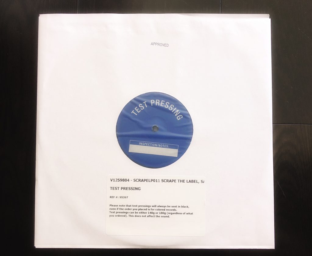 "<b>SCRAPE Records</b><br />""The Label"" Vinyl Test-Pressing"
