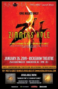 Zimmers Hole Live in Vancouver January 2019