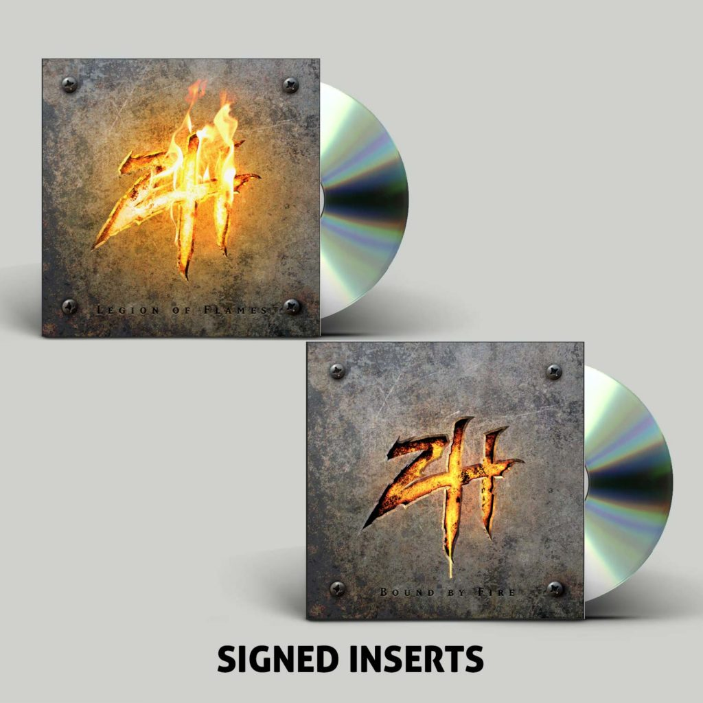 "<b>Zimmers Hole</b>""Bound By Fire"" + ""Legion Of Flames"" Signed CD Bundle"