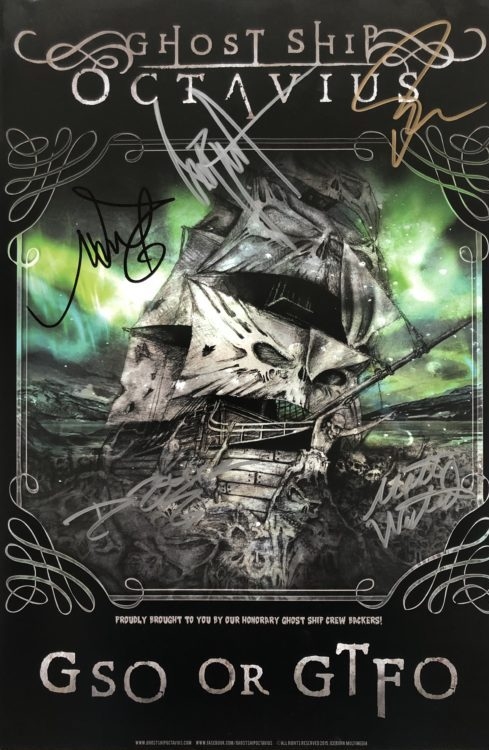 "Ghost Ship Octavius –  ""GSO or GTFO"" Signed Poster"