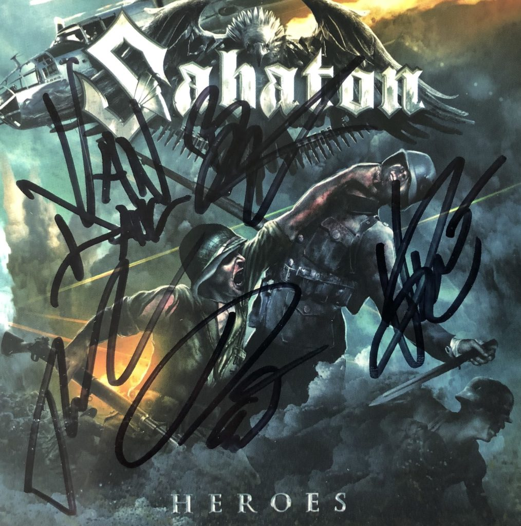 "Sabaton –  ""Heroes"" Signed CD Booklet"