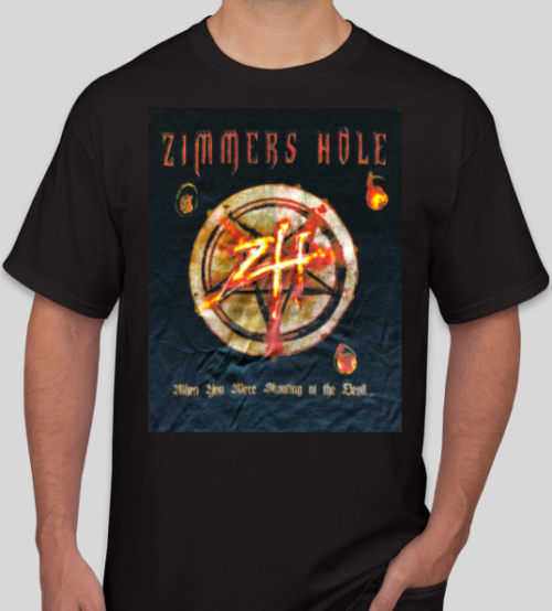 "<b>Zimmers Hole</b> <br />""When Your Were Shouting at the Devil…We Were In League With Satan"" T-Shirt"