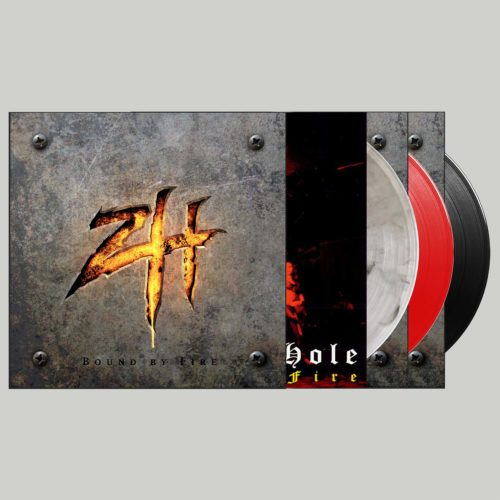 "<b>Zimmers Hole</b>  ""Bound By Fire"" Black + Bloody + Murky 3-Pak Signed Vinyl"