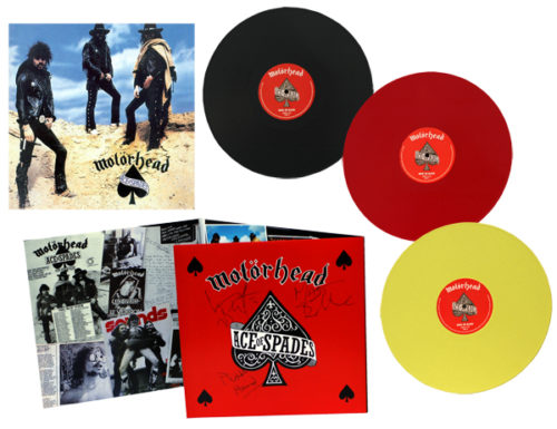 "<b>Motörhead</b> <br/>""Ace of Spades"" Yellow/Black/Blue 3LP"