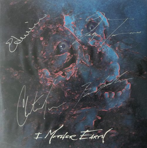 """<b>I Mother Earth</b> <br/>""""Untitled"""" Signed Promo Blue 10″"""