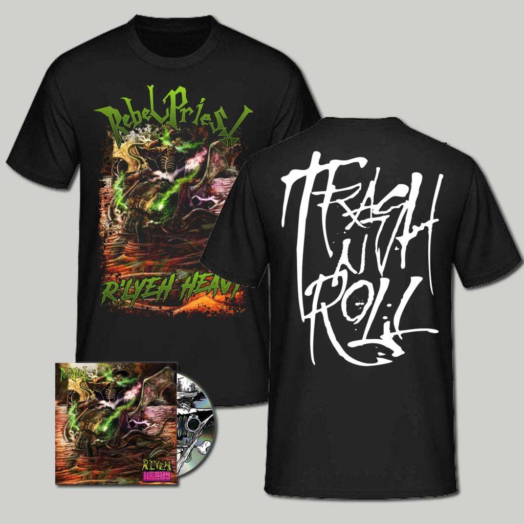 "<b>Rebel Priest</b> <br />""R'lyeh Heavy"" CD Bundled w/ T-Shirt"