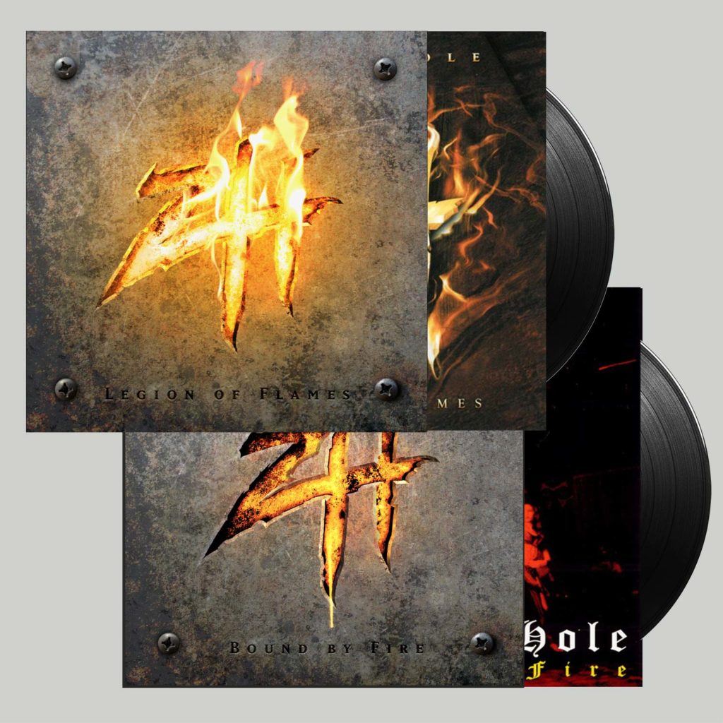 "<b>Zimmers Hole</b> <br />""Bound By Fire"" Vinyl + ""Legion of Flames"" Vinyl"