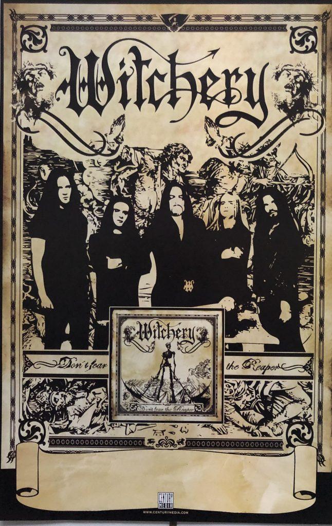 "<b>Witchery</b> <br/>""Symphony For The Devil"" album promo 11″x17″"