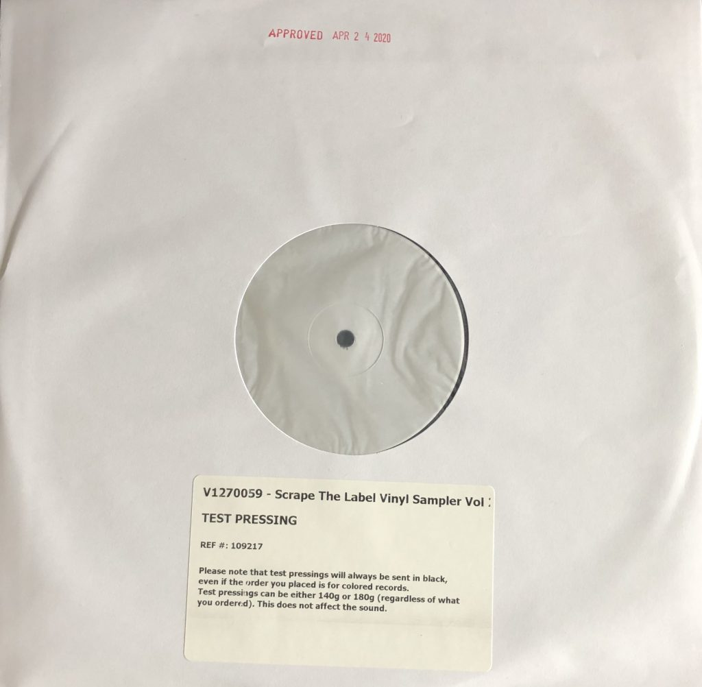 "<b>SCRAPE Records</b><br />""The Label"" White Label Vinyl Test-Pressing"