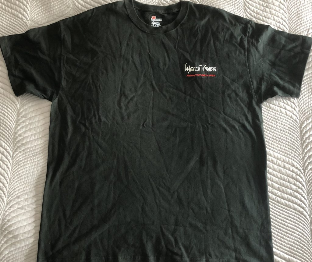"""<b>Watchtower</b> <br/>""""Energetic Disassembly"""" T-Shirt Embroidered Size XL"""