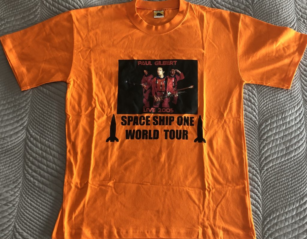 """Paul Gilbert – """"2005 Asia Tour Shirt"""" Size Large"""
