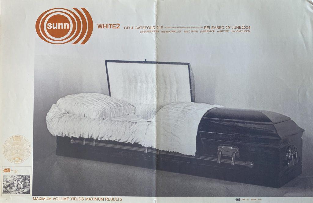 "Sunn O))) – ""White 2″ album promo 11″x17″"
