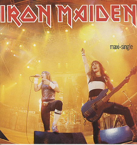 "Iron Maiden – ""Running Free (Live) / Sanctuary (Live) / Murders (Live)"" 12″ Vinyl"
