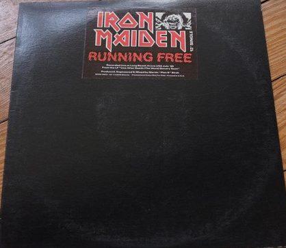 """Iron Maiden – """"Running Free"""" 12″ Promo Vinyl"""